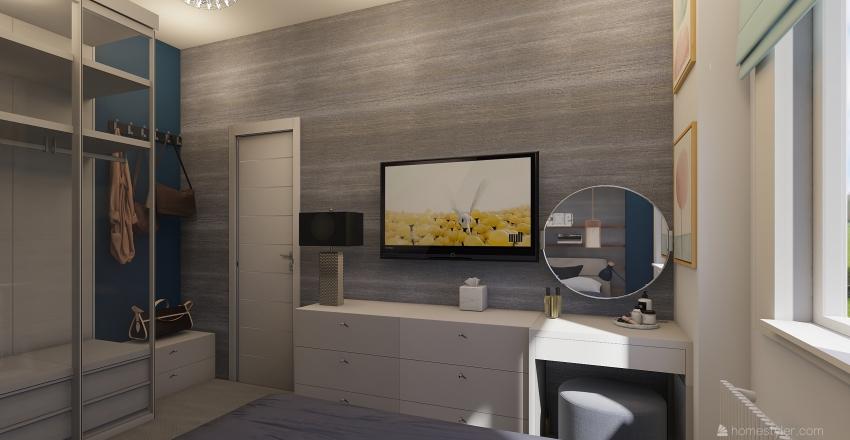 Lindsey's bedroom Interior Design Render