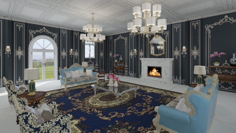 Sala Vitoriana Interior Design Render