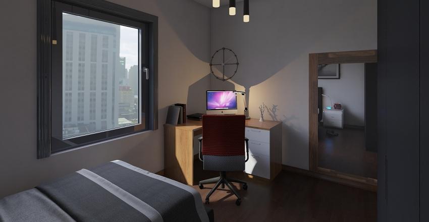 camera da letto singola prova 1 Interior Design Render