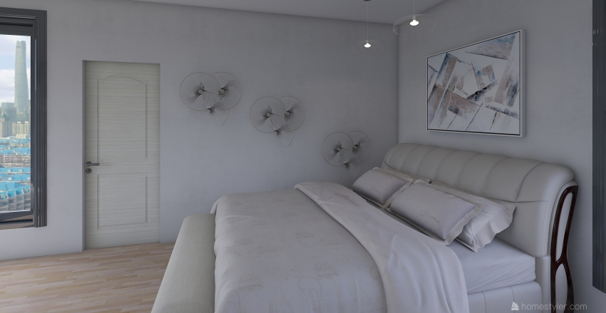 NYC Bedroom Interior Design Render