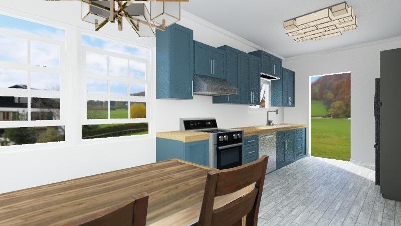 Kitchen Remodel Interior Design Render