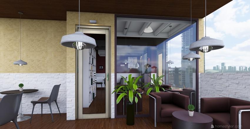 Coffee 23 Interior Design Render