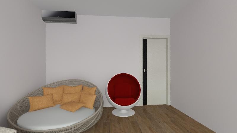 New Year room Interior Design Render