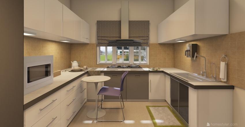 raji kitchen Interior Design Render
