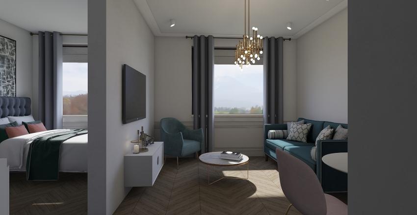35.8 m² art-deco interior Interior Design Render