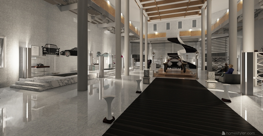 CAR MUSEUM Interior Design Render