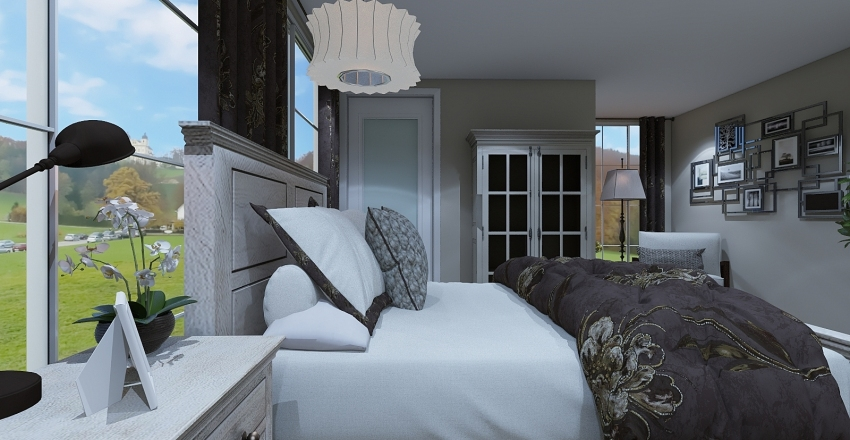 Traditional Country Interior Design Render
