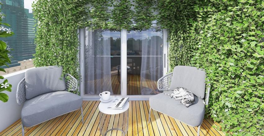 Green appartment Interior Design Render