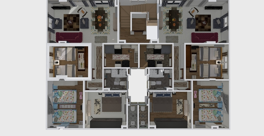 royal project plan Interior Design Render