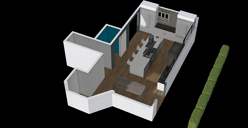 Kitchen Baseline - w pantry Interior Design Render
