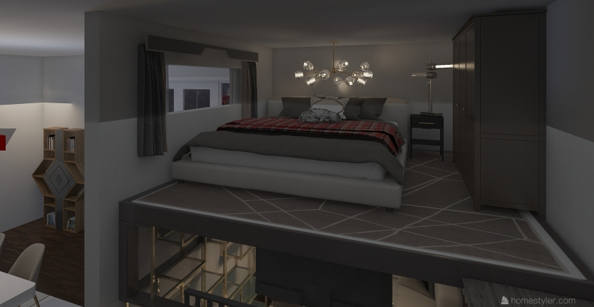 contemporary condo Interior Design Render