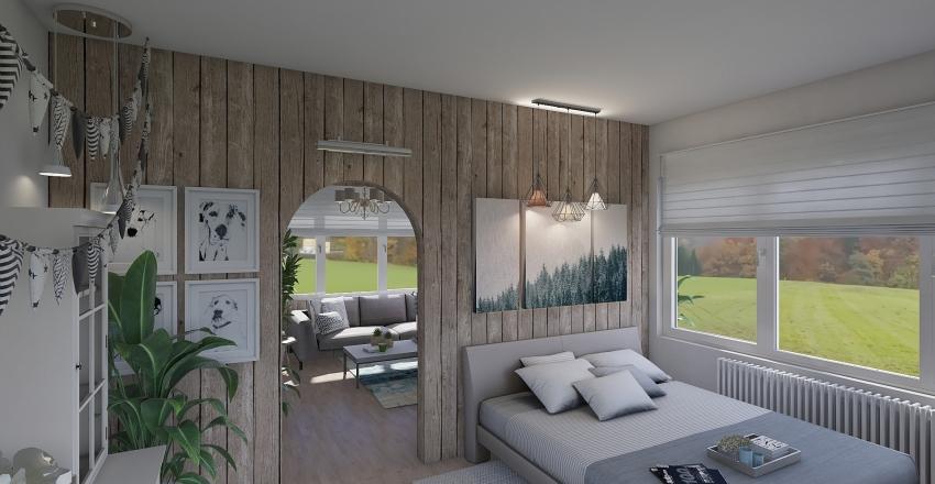 Compact House Interior Design Render