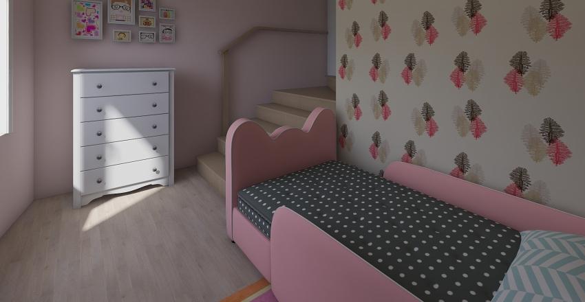 piano primo Dusi matrimoniale e singola Interior Design Render