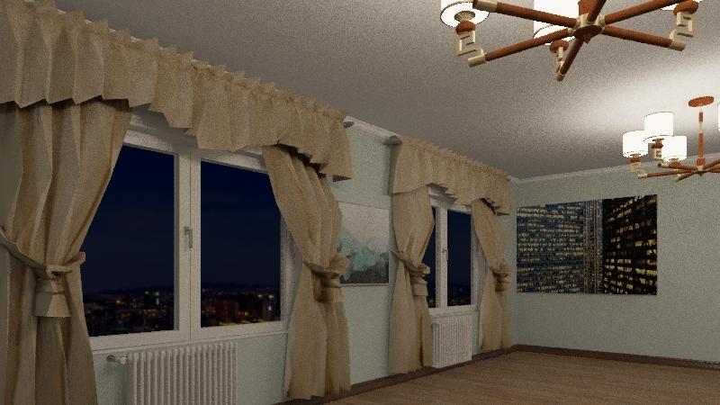 1 Дизайн с мебелью Interior Design Render