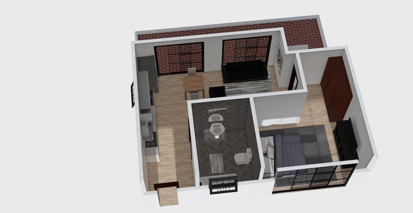 Kioko House 1.5  Interior Design Render