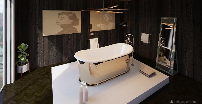 rustic bath Interior Design Render