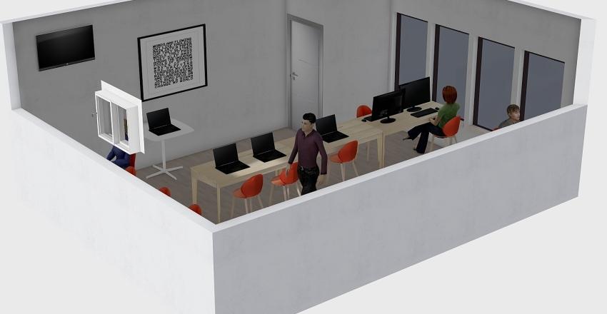 sala de aula Interior Design Render