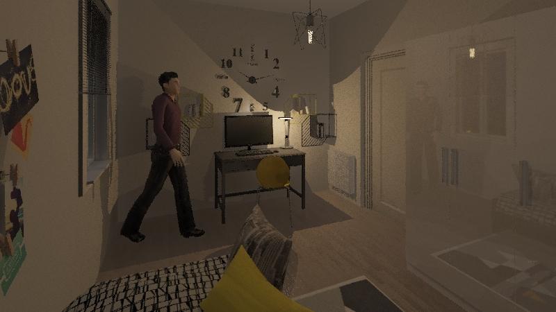 camera singola Interior Design Render