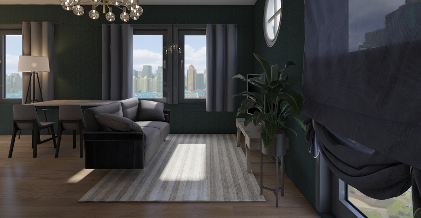 1 bedroom apartment Interior Design Render