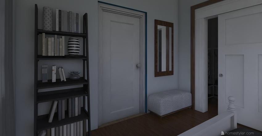 Apartment with balcony Interior Design Render