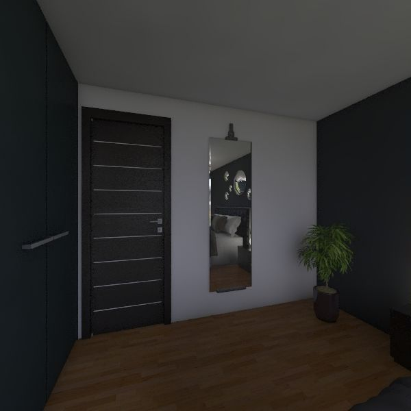 Spálňa Interior Design Render