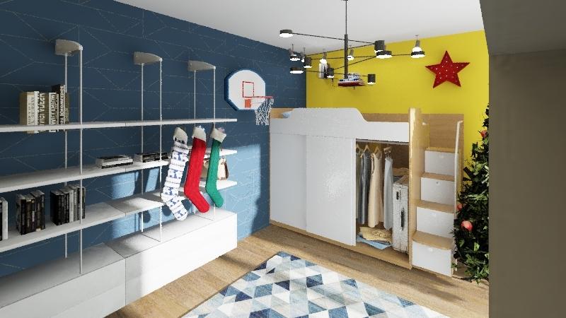 Teenage room Interior Design Render