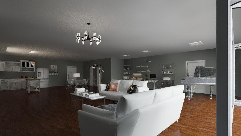 Classic/Modern Apartment Interior Design Render