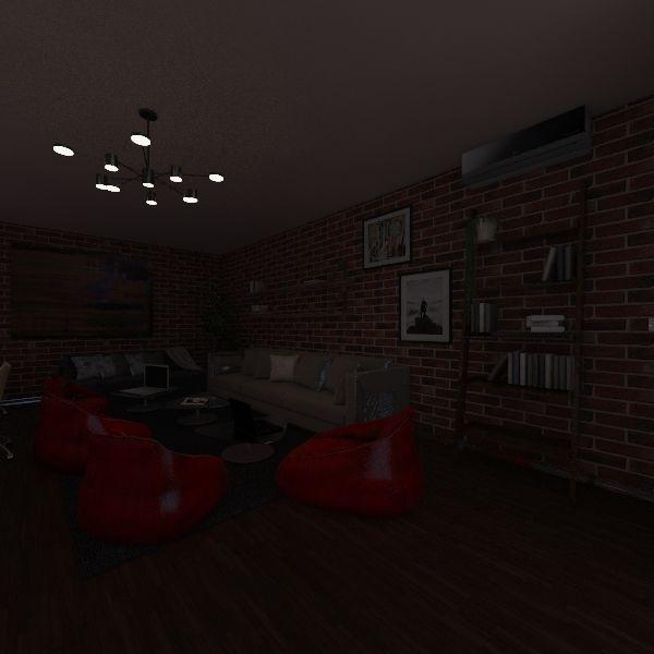 White Box Interior Design Render