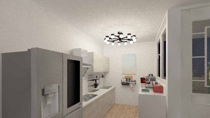 small L.A. apartment  Interior Design Render