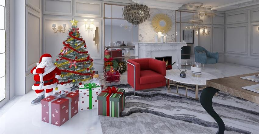 Новый год - гостиная2 Interior Design Render