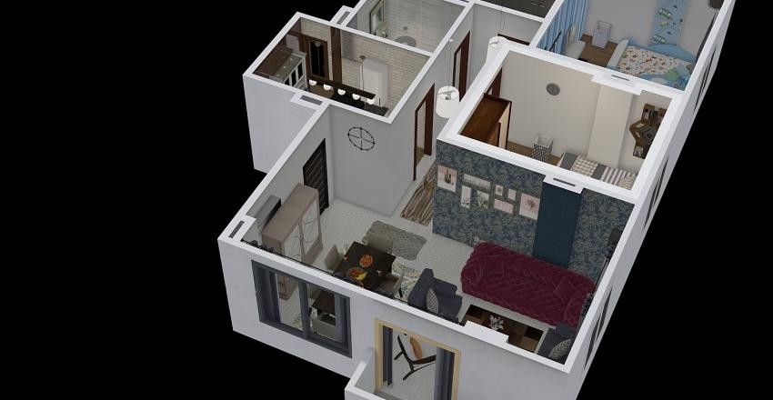 one flat render Interior Design Render
