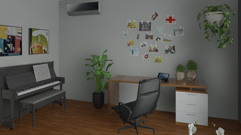 My Home Office Idea Interior Design Render