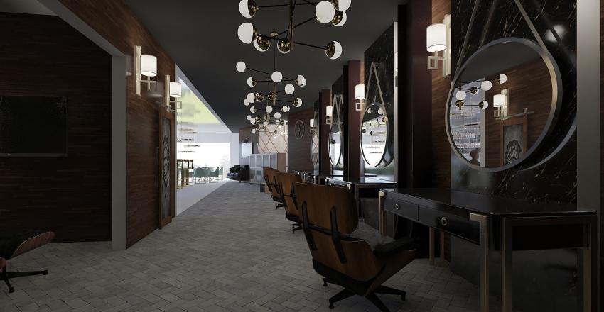 Barberia The Bridge Interior Design Render