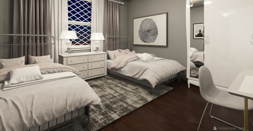dorm room 2  Interior Design Render