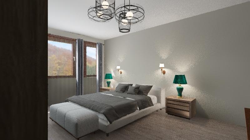 yatak odası Interior Design Render