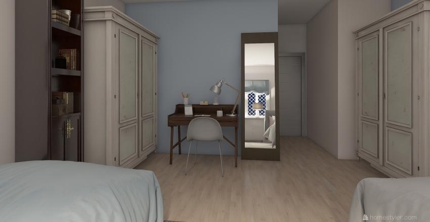 dorm room 3 Interior Design Render