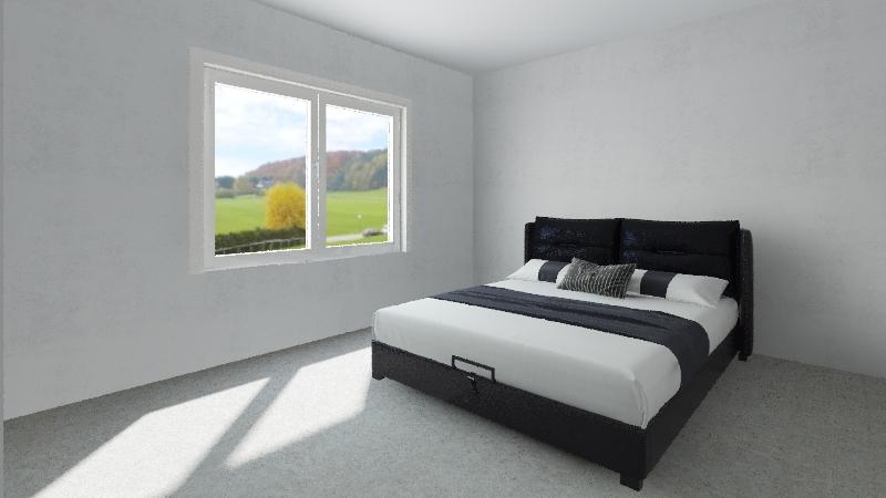 Pole Barn House, 2BR 2BA Interior Design Render
