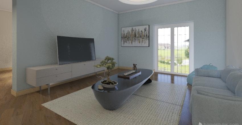 Classic Family Home Interior Design Render