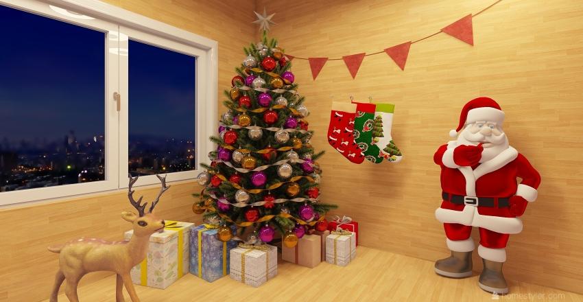 feliz navidad Interior Design Render