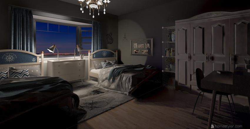 dorm room 4 Interior Design Render
