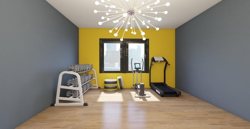 apartment modern tower Interior Design Render