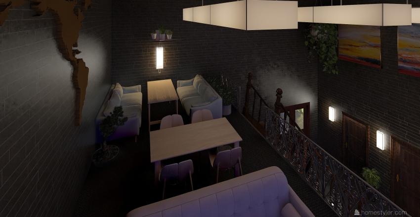 Diner  Interior Design Render