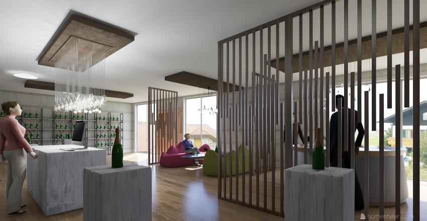 Wine House Interior Design Render