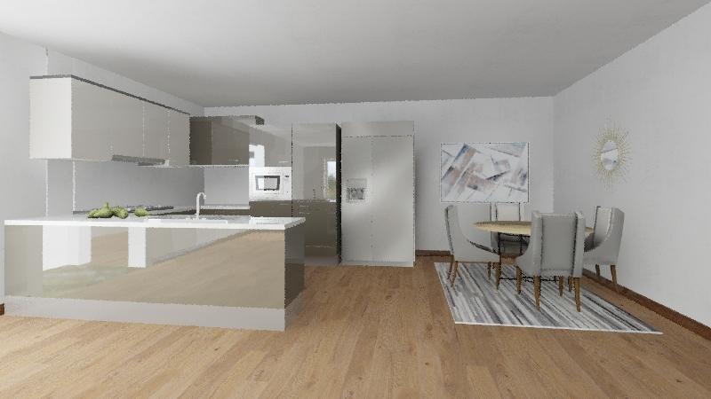 Modern Minimalist Interior Design Render
