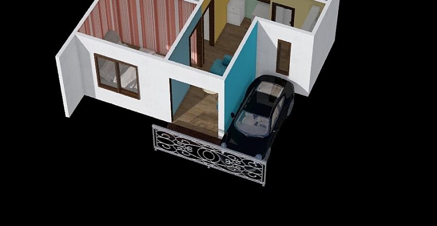 Rumah BAru 2 Lantai Interior Design Render