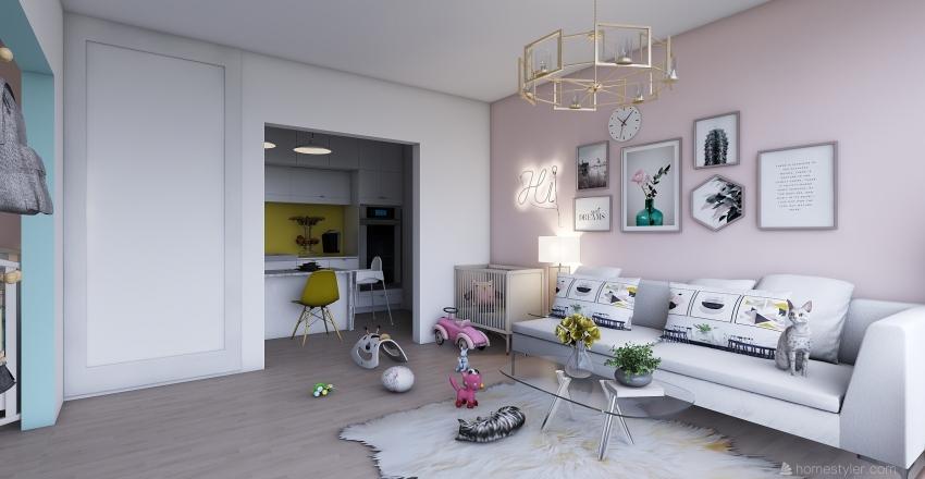 apartment 21 Interior Design Render