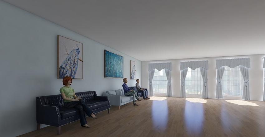 studio blue Interior Design Render