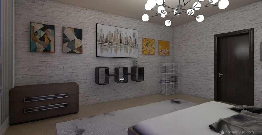 пуп Interior Design Render