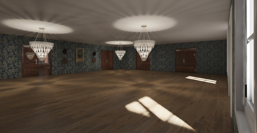 grand manshion Interior Design Render