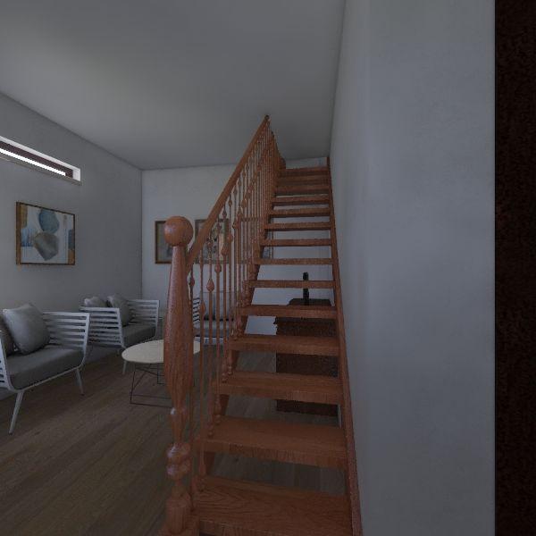Rumah 2 lantai Interior Design Render